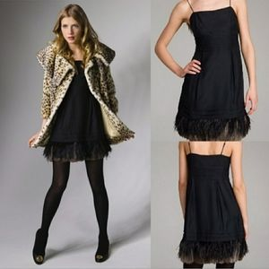 Juicy Couture Silk And Real Feathers Dress
